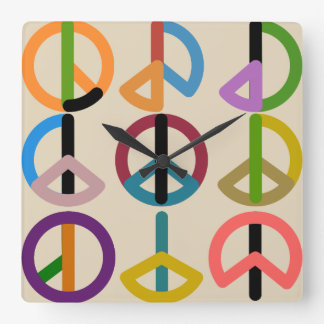 Relógio Quadrado Batida da paz/pulso de disparo de parede quadrado