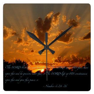 Relógio Quadrado Benediction poético…