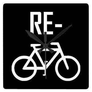 Relógio Quadrado Bicicleta da bicicleta do reciclar