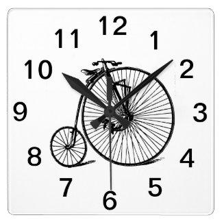Relógio Quadrado Bicicleta da bicicleta do Velocipede do vintage