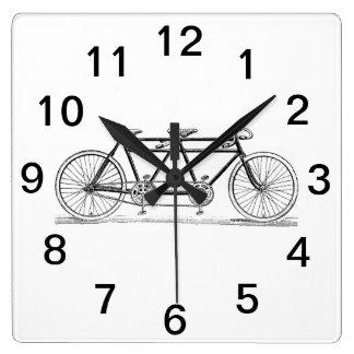 Relógio Quadrado Bicicleta do vintage construída para