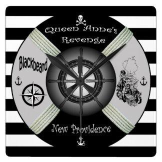 Relógio Quadrado Blackbeard ~Queen o ~Pirate~Life-anel da vingança