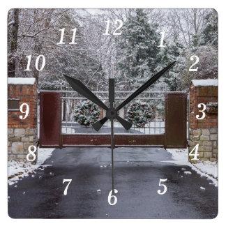 Relógio Quadrado Boa vinda ao inverno