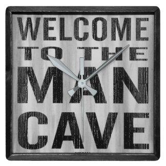 Relógio Quadrado Boa vinda ao pulso de disparo de parede da caverna