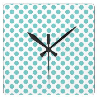 Relógio Quadrado Bolinhas do Aqua