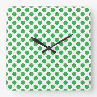 Relógio Quadrado Bolinhas verdes