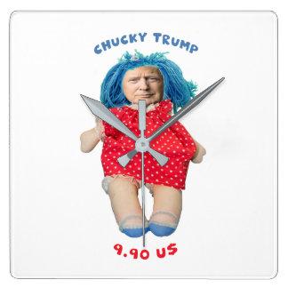 Relógio Quadrado Boneca de Chucky Donald Trump