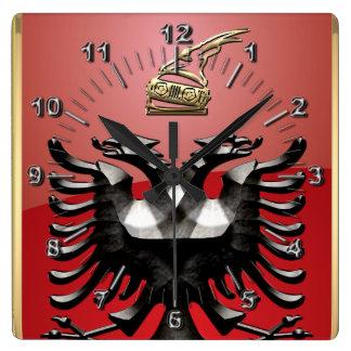 Relógio Quadrado Brasão albanesa