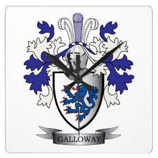 Relógio Quadrado Brasão da crista da família de Galloway
