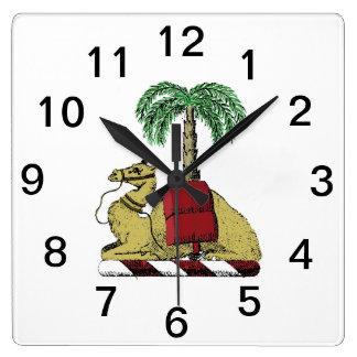 Relógio Quadrado Brasão heráldica formal da cor da palmeira do