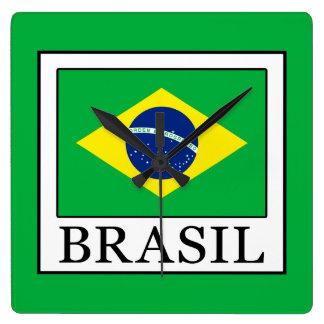 Relógio Quadrado Brasil