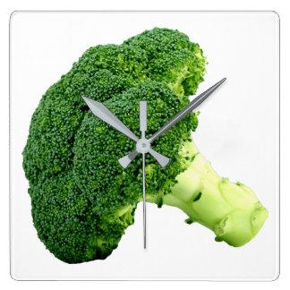 Relógio Quadrado Brócolos