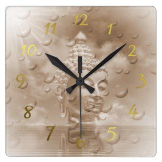 Relógio Quadrado buddha