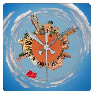 Relógio Quadrado c4marraquexe pouco lan do turismo do viagem de
