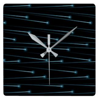 Relógio Quadrado Cabos óticos da fibra