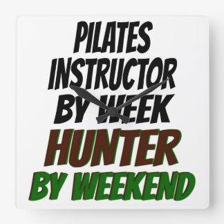 Relógio Quadrado Caçador do instrutor de Pilates