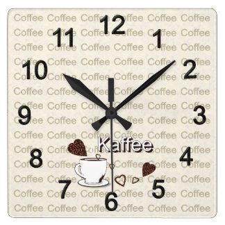Relógio Quadrado Café