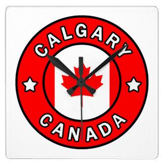 Relógio Quadrado Calgary Canadá