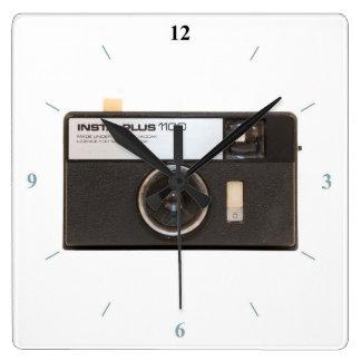 Relógio Quadrado Câmera de Instamatic