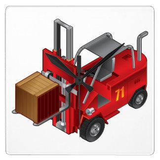 Relógio Quadrado Caminhão de empilhadeira