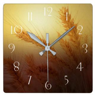 Relógio Quadrado Campo de trigo