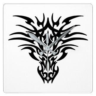 Relógio Quadrado Cara-Dragão-Tatuagem