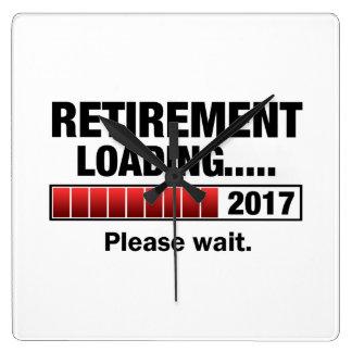 Relógio Quadrado Carga 2017 da aposentadoria