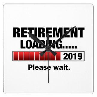 Relógio Quadrado Carga 2019 da aposentadoria