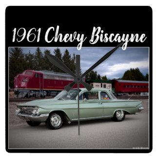 Relógio Quadrado Carro 1961 do clássico de Chevy Chevrolet Biscayne