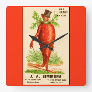 Relógio Quadrado cartão do comércio do Victorian do homem da