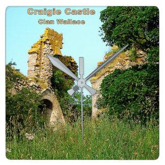 Relógio Quadrado Castelo de Craigie - clã Wallace