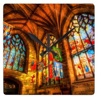 Relógio Quadrado Catedral Edimburgo Scotland de St Giles