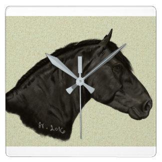 Relógio Quadrado Cavalo