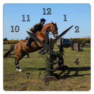 Relógio Quadrado Cavalo e cavaleiro