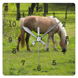 Relógio Quadrado Cavalos de Palamino