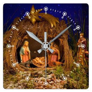 Relógio Quadrado Cena da natividade