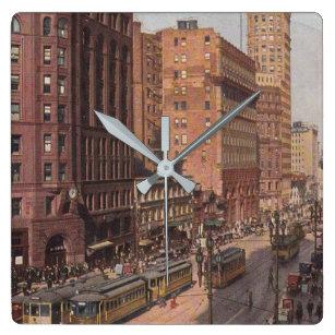2f7ac9b09ae Relógio Quadrado Cena da rua de San Francisco do vintage
