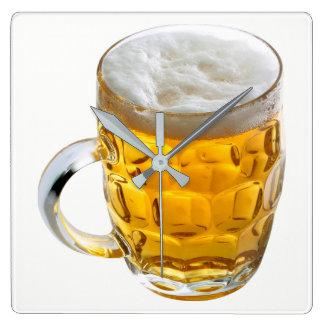 Relógio Quadrado Cerveja
