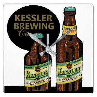 Relógio Quadrado Cerveja da exportação de Kessler