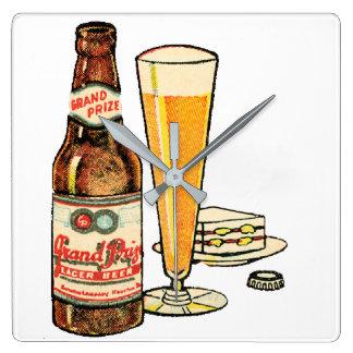 Relógio Quadrado Cerveja de cerveja pilsen premiada grande