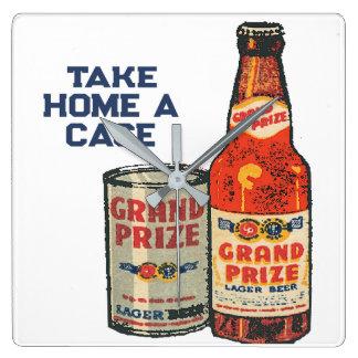 Relógio Quadrado Cerveja de cerveja pilsen premiada grande neta um