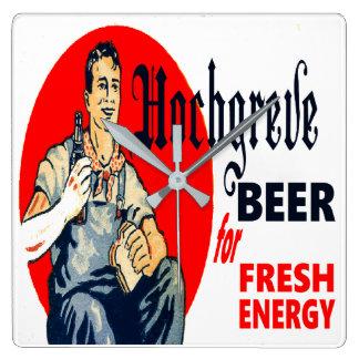 Relógio Quadrado Cerveja de Hochgreve