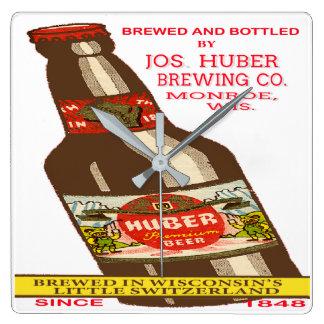 Relógio Quadrado Cerveja de Huber