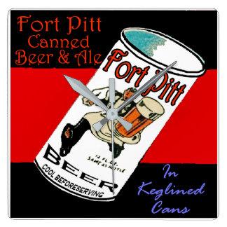 Relógio Quadrado Cerveja de Pitt do forte