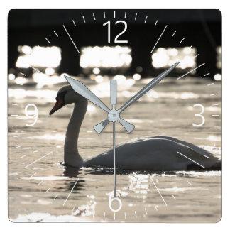 Relógio Quadrado Cisne