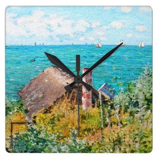 Relógio Quadrado Claude Monet a cabine em belas artes do