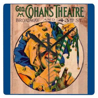 Relógio Quadrado cobrir do playbill do teatro de Cohan do 1920
