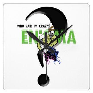 Relógio Quadrado Cobrir do telefone de Enigma
