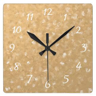 Relógio Quadrado colagem de muitos relógios pequenos das