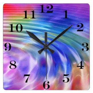 Relógio Quadrado Colora meu mundo da vida com alegria